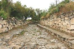 Cave city Chufut-Kale Bakhchisaray Stock Images
