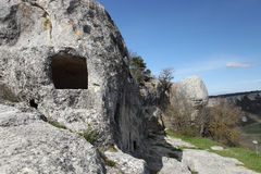 Cave city Eski-kermen Royalty Free Stock Photography