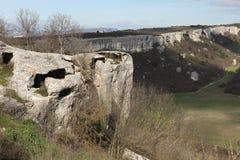 Cave city Eski-kermen Stock Images