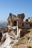 Cave city Uchisar in Cappadocia, Turkey Royalty Free Stock Image