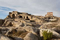 Cave city Uplistsikhe. Royalty Free Stock Photo