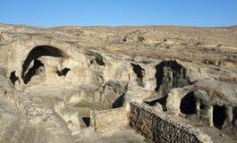 Cave city Uplistsikhe in Caucasus region, Georgia royalty free stock photography
