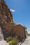 Cave Cliff Dwelling in Bandalier National Monument New Mexico Royalty Free Stock Image
