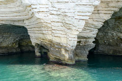Cave on the coast of Gargano National park on Puglia Royalty Free Stock Image