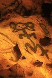 Cave com desenhos antigos - Cueva de las Maravillas Fotos de Stock Royalty Free