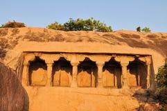 Cave complex in Mamallapuram, Tamil Nadu, India Royalty Free Stock Image