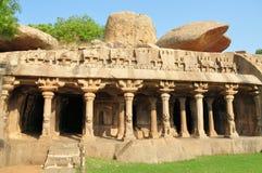 Cave complex in Mamallapuram, Tamil Nadu, India Stock Image