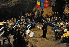 Cave concert Stock Images