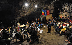 Cave concert Stock Photography