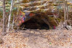 Cave in country area royalty free stock photography