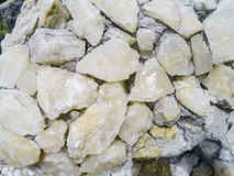 Cave crystal fragments Stock Image