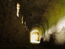 Cave dans le château médiéval photo libre de droits