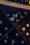 Cave de bouteille de vin photo libre de droits