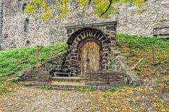 Cave de château de Vyborg Images libres de droits