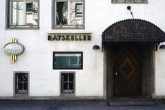 Cave de restaurant de l'hôtel de ville Ruesselsheim Photos stock