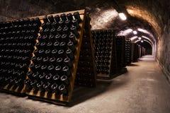 Cave de stockage de boisson photographie stock libre de droits