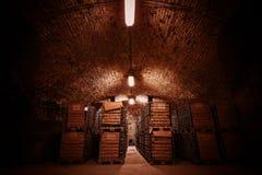 Cave de stockage de boisson photographie stock