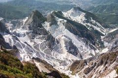 Cave del marmo di Carrara in Toscana, Italia fotografie stock