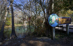Free Cave Divers Surfaced - Ginnie Springs Royalty Free Stock Photography - 22849567