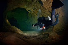 Cave diving Royalty Free Stock Photography