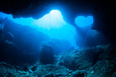 Cave diving Royalty Free Stock Images