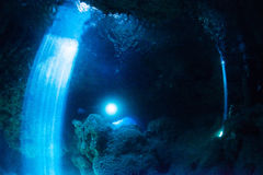 Cave diving Stock Images
