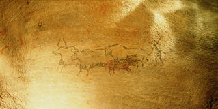 Cave drawing Stock Images