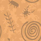 09cave drawings. Seamless vector pattern of cave drawings Stock Photos