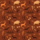Cave Drawings Theme Royalty Free Stock Image