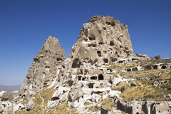 Cave dwellings Royalty Free Stock Photo