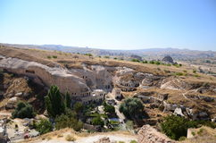 Cave dwellings in Cappadocia, Turkey Royalty Free Stock Photo