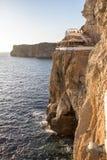 Cave en Xoroi do ` de d, Menorca, Espanha foto de stock