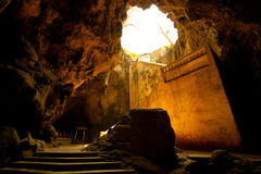 Cave entrance. For the great cave entrance stairs Stock Images