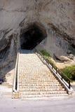 Cave entrance in arta, majorca Stock Photos