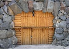 Cave entrance gate stock image