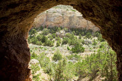 Cave entrance looking out Stock Image
