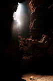 Cave. Entrance and mystical light Royalty Free Stock Photos