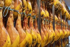 Cave espagnole de jambon L'industrie alimentaire images libres de droits
