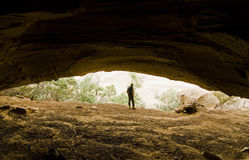 Cave Exploration Royalty Free Stock Photos