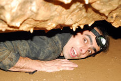 Cave explorer Stock Photography