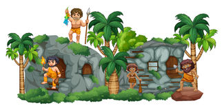Cave Family Stock Image