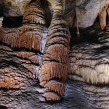 Cave formation at Jenolan Stock Images