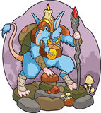 Cave gnome royalty free illustration