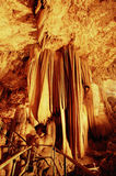 Cave Gong Pacitan Indonesia. Stalactites and stalagmites in the cave Gong, Pacitan, East Java, Indonesia Stock Photos