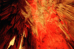 Cave Gong Pacitan Indonesia. Stalactites and stalagmites in the cave Gong, Pacitan, East Java, Indonesia royalty free stock images