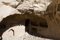 Cave in Guge ruins Royalty Free Stock Photo
