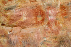Cave with hand prints, cueva de las manos Royalty Free Stock Photos