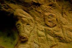 Cave on the Hiking Trail Eifelsteig Stock Photos