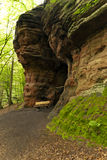 Cave on the Hiking Trail Eifelsteig Royalty Free Stock Photography