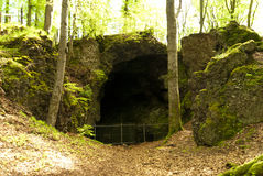 Cave on the Hiking Trail Eifelsteig Royalty Free Stock Photo